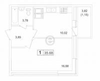 Однокомнатные квартиры в «Пулковский-3»