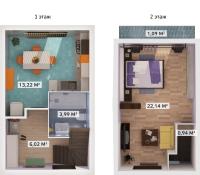 Однокомнатные квартиры в «Счастье»