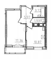Однокомнатные квартиры в «Сириус»