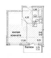 Однокомнатные квартиры в «Солнечный»