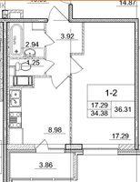 Однокомнатные квартиры в «Солнечный город»