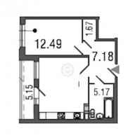 Однокомнатные квартиры в Time («Тайм»)