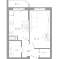 Однокомнатные квартиры в «Три кита»
