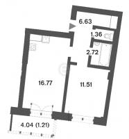 Однокомнатные квартиры в «Три ветра»