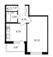 Однокомнатные квартиры в «Трилогия»