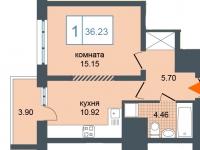 Однокомнатные квартиры в «Триумф-Парк»