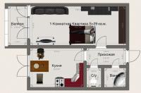 Однокомнатные квартиры в «Вариант»