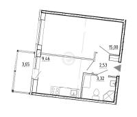 Однокомнатные квартиры в «Вернисаж»