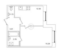 Однокомнатные квартиры в «Весна-3»