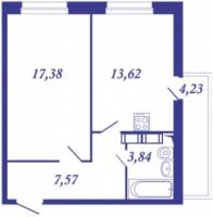 Однокомнатные квартиры в «Виктория»