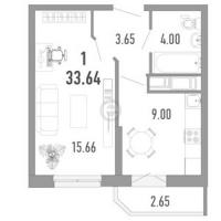 Однокомнатные квартиры в Vitamin («Витамин»)