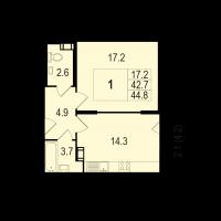 Однокомнатные квартиры в «Жемчужный берег»