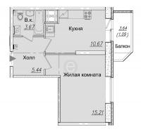 Однокомнатные квартиры в «Живи! В Рыбацком!»