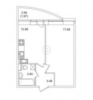 Однокомнатные квартиры в «Золотое время»