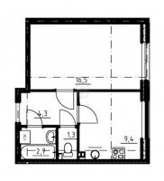 Однокомнатные квартиры в «Золотые купола»