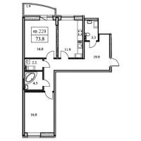 Двухкомнатные квартиры в «Академ-Парк»