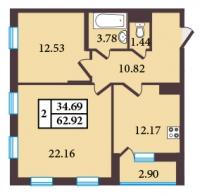 Двухкомнатные квартиры в «Александровский»
