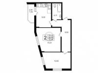 Двухкомнатные квартиры в «Алфавит»