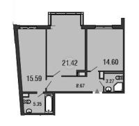 Двухкомнатные квартиры в «ArtStudio»