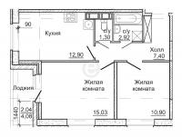 Двухкомнатные квартиры в «Астрид»