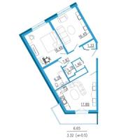 Двухкомнатные квартиры в «Азимут»