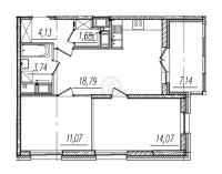 Двухкомнатные квартиры в «BauHaus»