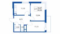 Двухкомнатные квартиры в «Березовая роща»