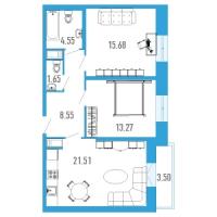 Двухкомнатные квартиры в «Богатырь-3»