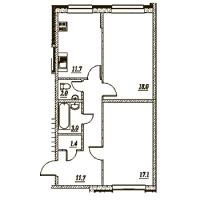 Двухкомнатные квартиры в «Брусничный - 1, 2, 3»