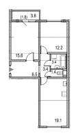 Двухкомнатные квартиры в «Цивилизация»
