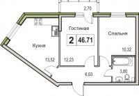 Двухкомнатные квартиры в «Цвета радуги»