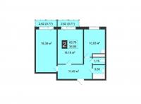 Двухкомнатные квартиры в «Цветы»
