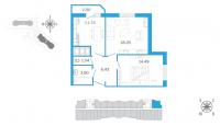 Двухкомнатные квартиры в «Девятый вал»