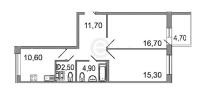 Двухкомнатные квартиры в «Дом на излучине Невы»