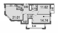 Двухкомнатные квартиры в «Дом на набережной»