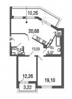 Двухкомнатные квартиры в «Дом у Елагина острова»