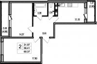 Двухкомнатные квартиры в «Дом в Романовке»