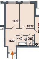 Двухкомнатные квартиры в «Дом у Невского»