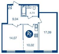 Двухкомнатные квартиры в «Две Эпохи»