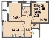 Двухкомнатные квартиры в «Ecocity»