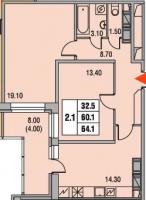 Двухкомнатные квартиры в «Екатерининский»