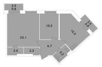Двухкомнатные квартиры в «ЭкспоГрад»
