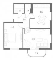 Двухкомнатные квартиры в «Энфилд»