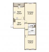 Двухкомнатные квартиры в «Европа Сити»