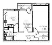 Двухкомнатные квартиры в «Гольфстрим»