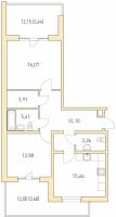 Двухкомнатные квартиры в «Горки парк»