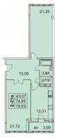 Двухкомнатные квартиры в «Граф Орлов»