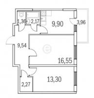 Двухкомнатные квартиры в «Граффити»