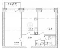 Двухкомнатные квартиры в «Итальянский квартал»