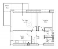 Двухкомнатные квартиры в «Ижора Сити»
